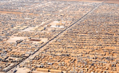 refugee camp aerial