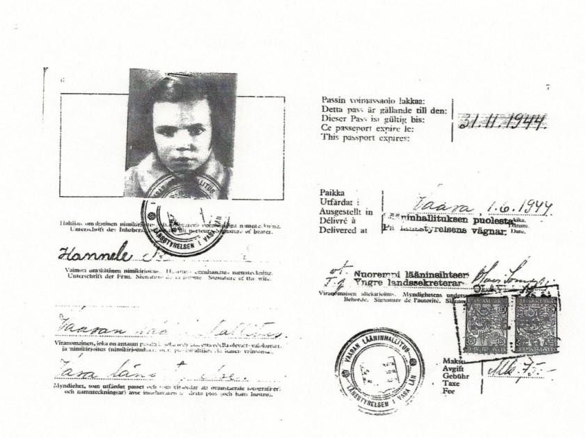Hannele's passport (2)